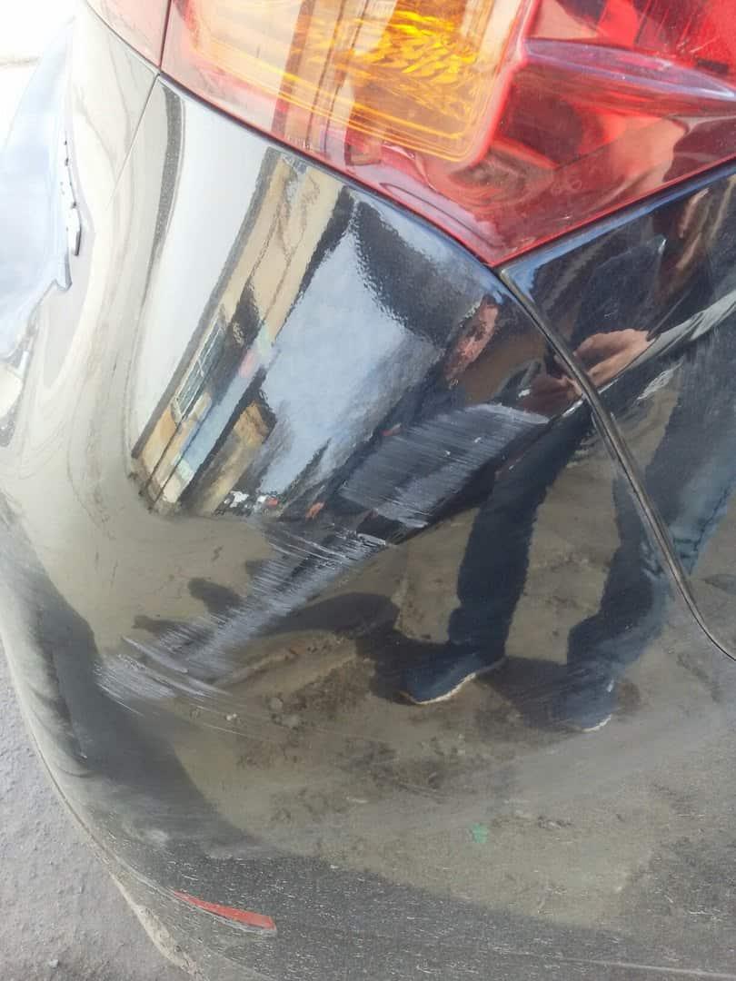 Фото бампера авто до ремонта