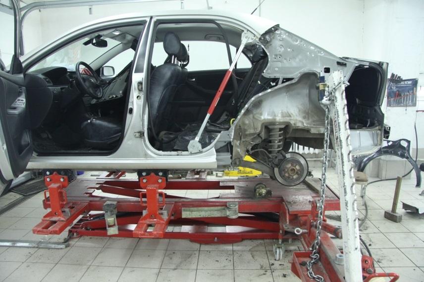 фото восстановление геометрии кузова автосервис