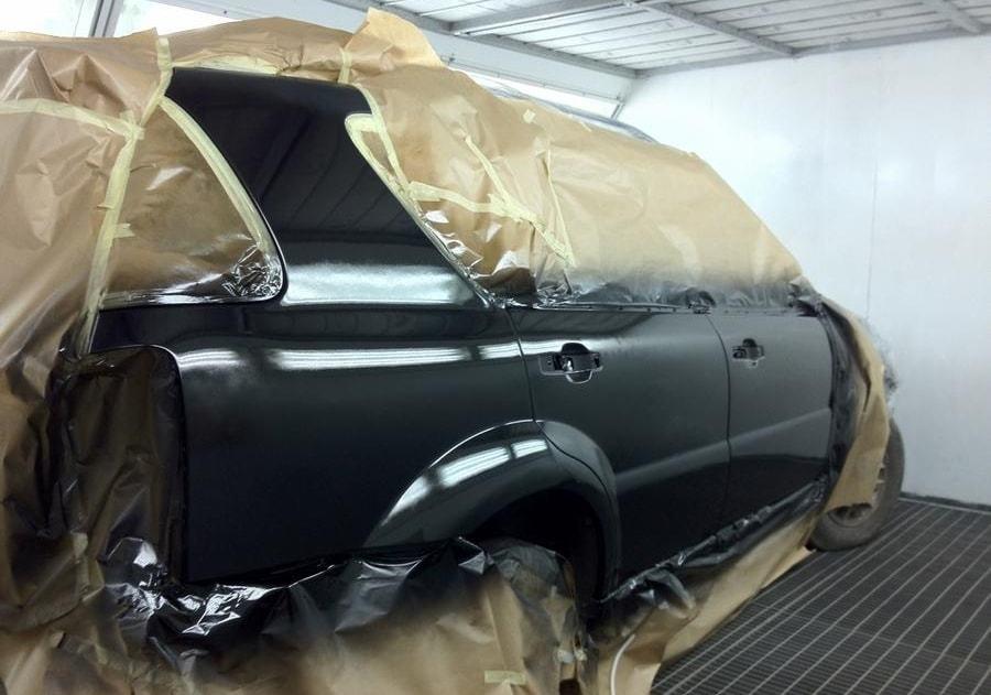 фото локальная покраска авто в автосервисе