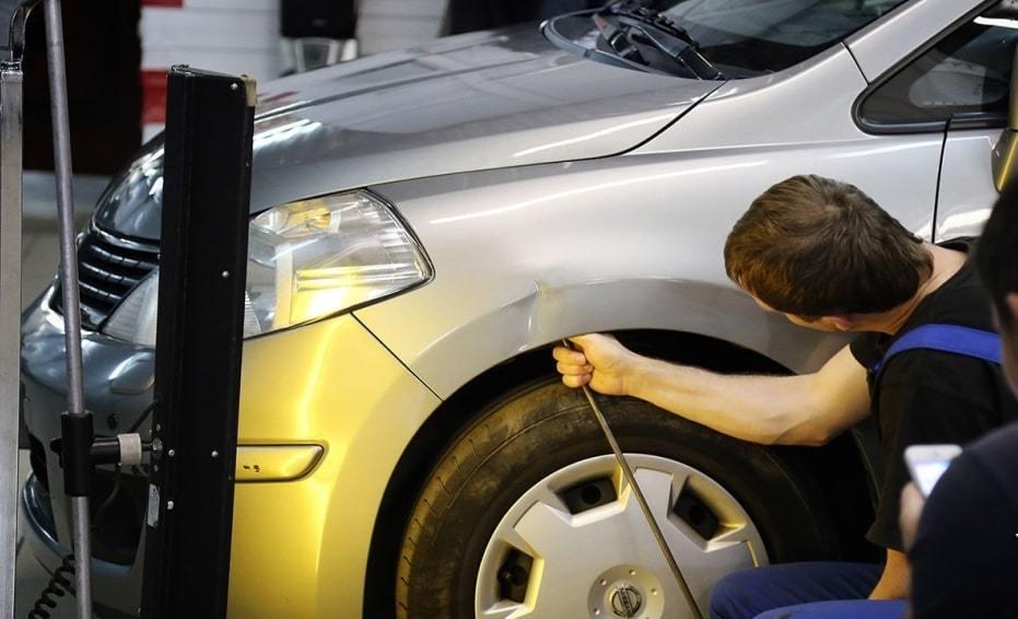 фото удаление вмятин на авто без покраски